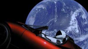 Tesla uzay arabası