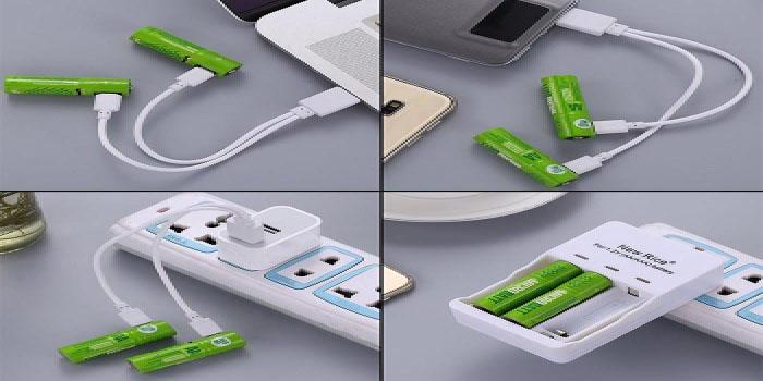 USB İle Şarj Edilebilir Piller Piyasaya Çıktı