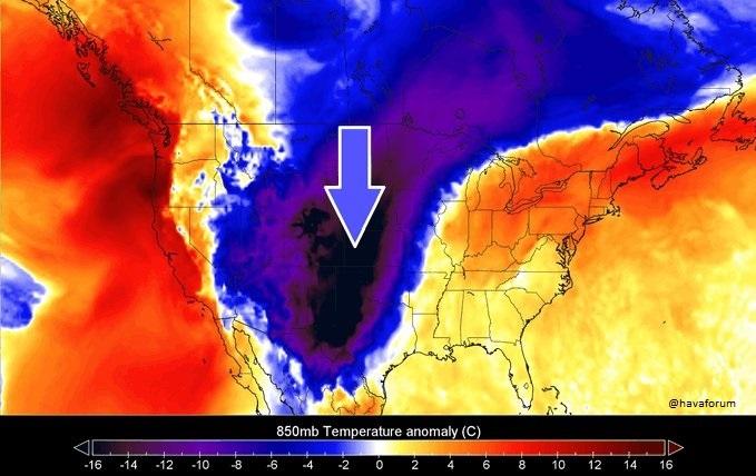ABD'de Saatler İçinde 33 Derece Sıcaklık Düşüşü Yaşadı!