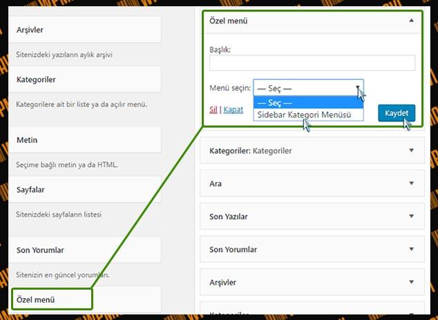 WordPress'te Kategori Sırası Nasıl Değiştirilir