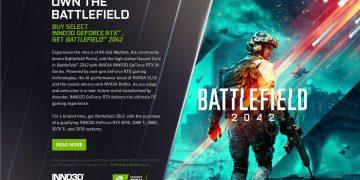 Battlefield 2042, GeForce RTX 30 serisi kart alıcılarına ücretsiz!